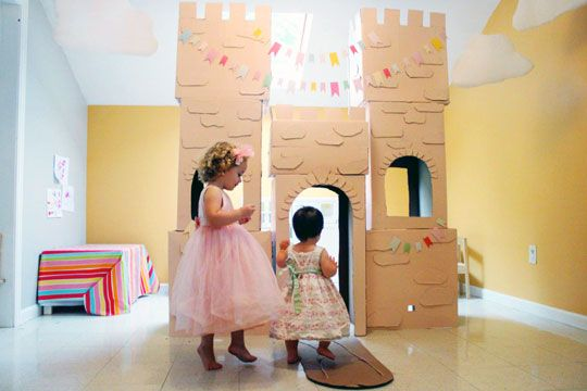 make a cardboard castle on the cheap