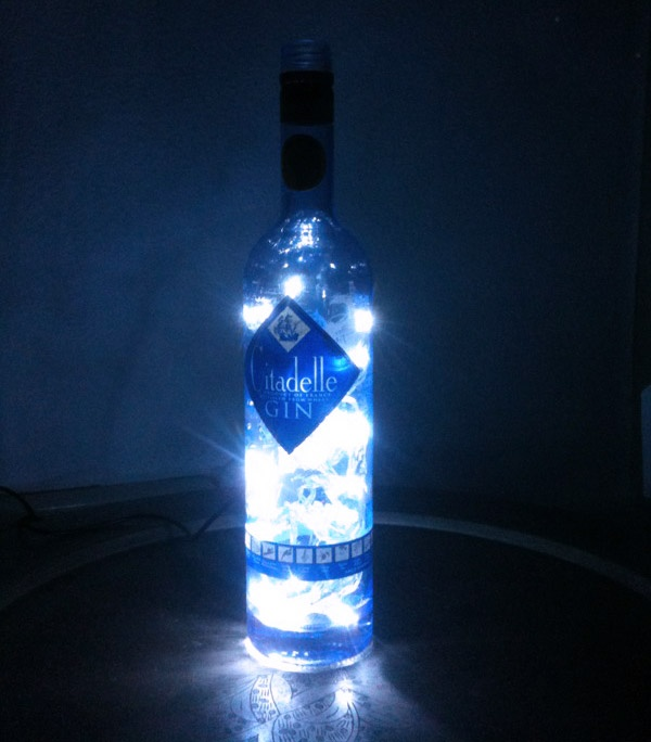 "Gin Citadelle lamp.  ""Genius #03"" by MafReino"