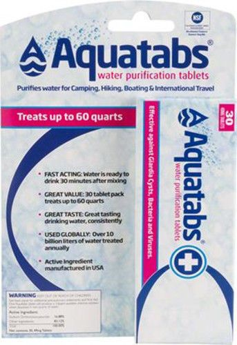 Aquatabs Water Purification tablets 30 ct pack For Camping, travel, or prep kits | Sporting Goods, Outdoor Sports, Camping & Hiking | eBay!