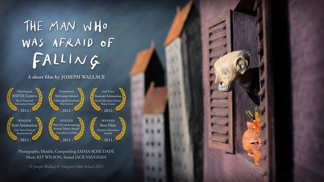 The Man Who Was Afraid of Falling : 2011 - Directed by Joseph Wallace. An old man suddenly becomes terrified of falling and injuring himself when he accidentally knocks a pot of flowers off his hi-rise balcony. I wondered if maybe why the old man was alone was because he never allowed himself to fall? The film is touching, very well edited (with nice humor) and open to many interpretations.