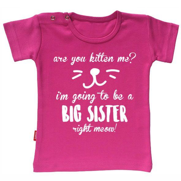 Ik word grote zus! Originele zwangerschapsaankondiging