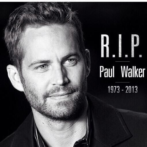 RIP Paul Walker. I had no idea! My son grew up watching the Fast and Furious movies.