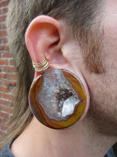 Heavymods Condor Agate Plugs Made By Relic Stoneworks