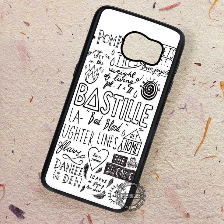 White Collage Band Bastille Song - Samsung Galaxy S7 S6 S5 Note 7 Cases & Covers