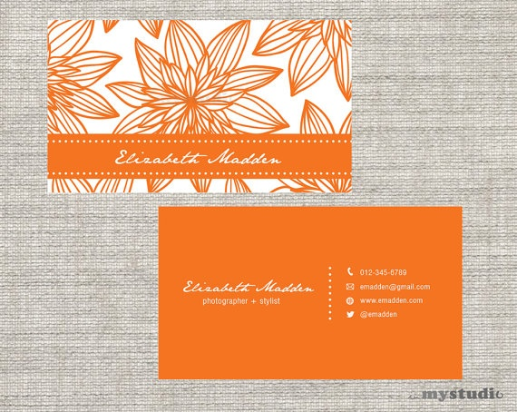 Business Card Calling Card Printable Custom Digital by inmystudioo, $10.00