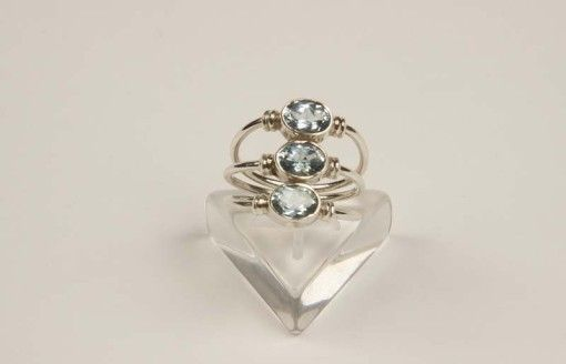 Ring R00025 Silver 925° stone Blue – Topaz