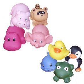 Addbabyn ihanat kylpylelut hauskoihin kylpyhetkiin. Kahdeksan erilaista lelua, muutamalla lelulla on pieni reikä suussa, toisilla isompi reikä pohjassa.