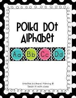 Teach it With Class: Polka Dots on Black  a FREEBIE