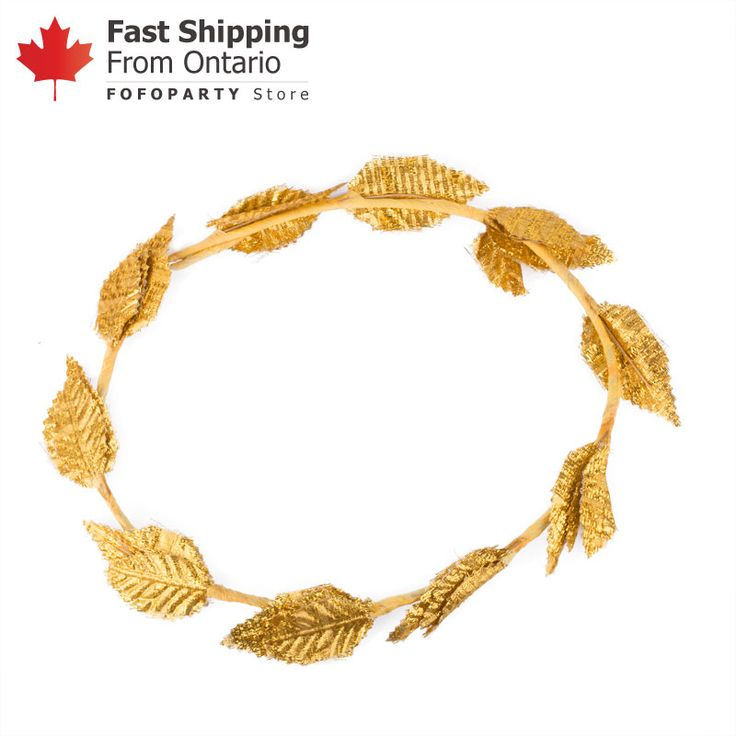 Be the awarded victors with the Gold Leaf Wreath Headband! Ideal headpiece for cosplay parties.