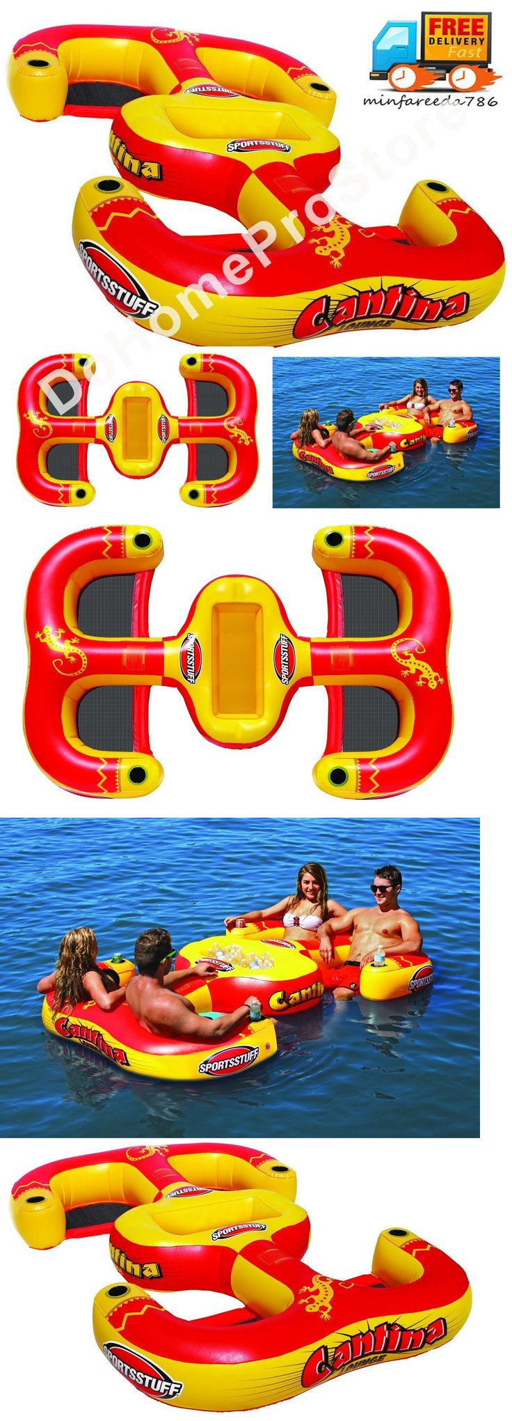 Inflatable Floats and Tubes 79801: Inflatable Pool Beach Water Lake Chair Swimming Lounger Floating Raft 4 Person -> BUY IT NOW ONLY: $109 on eBay!