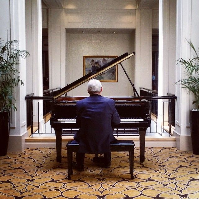 """Instagrammer @ben_duggan: """"Canberra's Hyatt is a perfect place for brunch or morning tea. This wonderful man provided some piano for us today."""" #humanbrochure"""