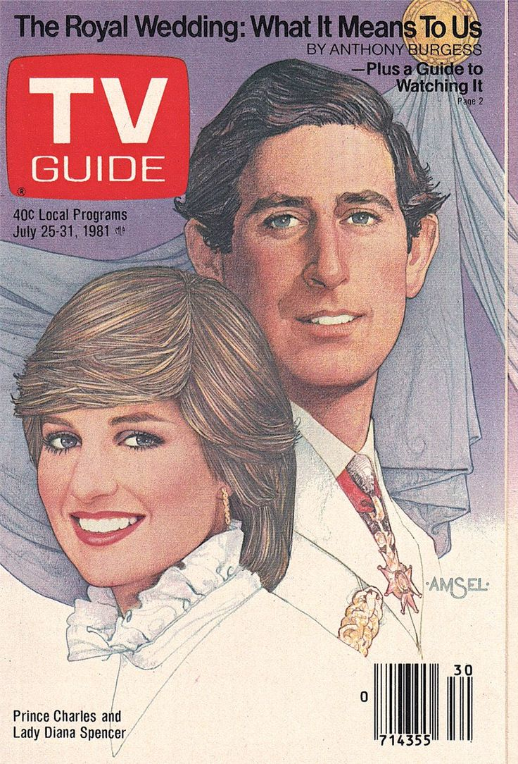 TV Guide Cover, July 2531, 1981 Prince Charles & Lady