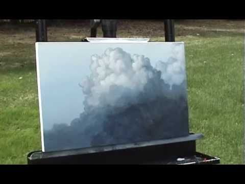 Big Puffy Clouds time lapse speed painting in acrylic by Tim Gagnon http://www.timgagnon.com - YouTube