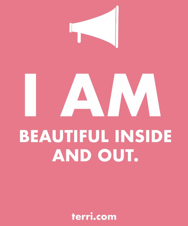 I AM BEAUTIFUL INSIDE AND OUT! Your words are powerful and the words you speak about yourself are even more powerful. Discover what to say from God's Word about your freedom, faith, finances, family, fitness, and your future dreams and goals. Program your mind for success through positive declarations and affirmations to become happier, healthier, and more productive today! Click on the Pin to GET A FREE LIST OF MY DECLARATIONS AND AFFIRMATIONS!