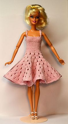 Barbie knitted dress pattern