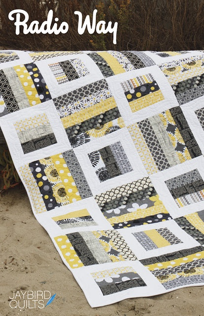 Radio Way Quilt by Jaybird Quilts. Love this pattern but also the black, yellow, grey, and white color!