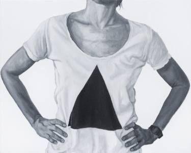 "Saatchi Art Artist sebastian sleczka; Painting, ""Agatha, Triangle"" #art"