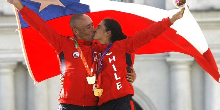 Paola Muñoz y Gonzalo Garrido, medalla de oro, ciclismo en ruta por equipos, Juegos Suramericanos Santiago 2014