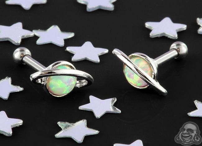 Orbit opal barbell