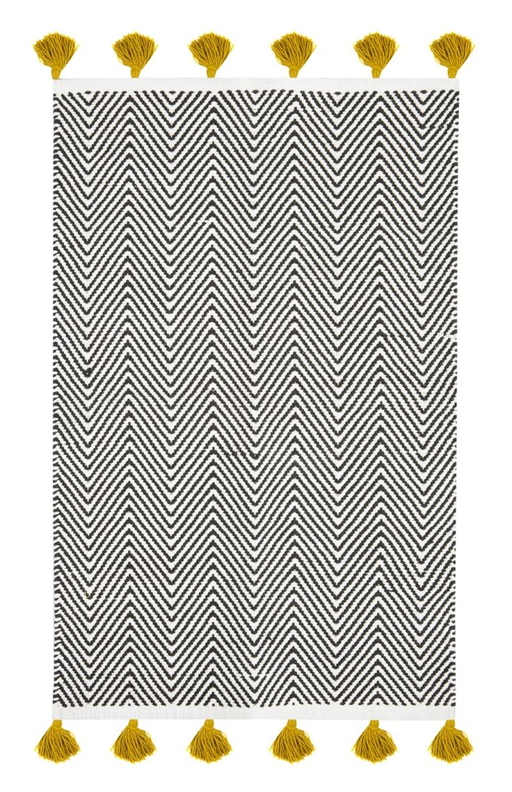 Primark - Tapis de bain monochrome à pampilles