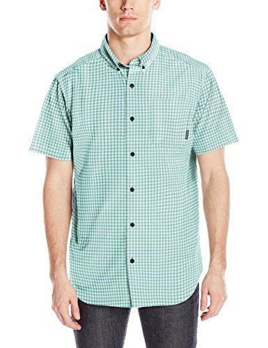 d5845c0ecfe Columbia Men's Rapid Rivers Ii Short Sleeve Shirt, Teal Small Plaid, Medium