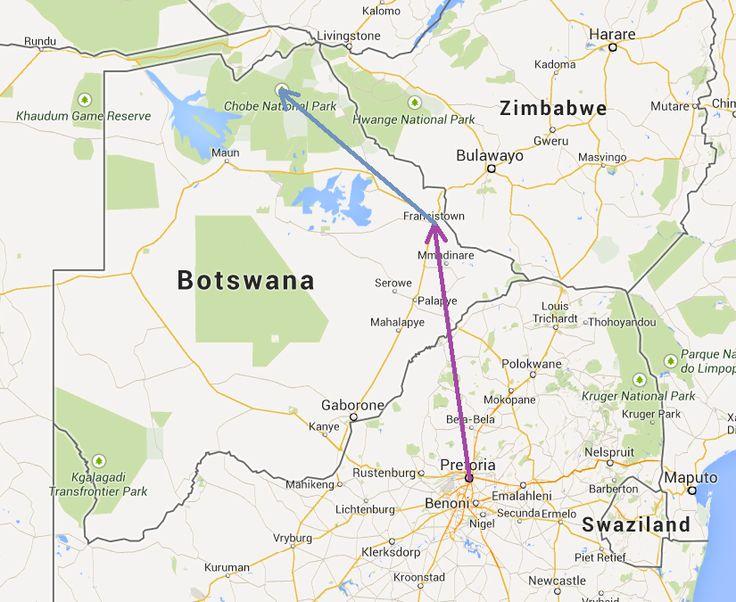 From Pretoria to Kasane