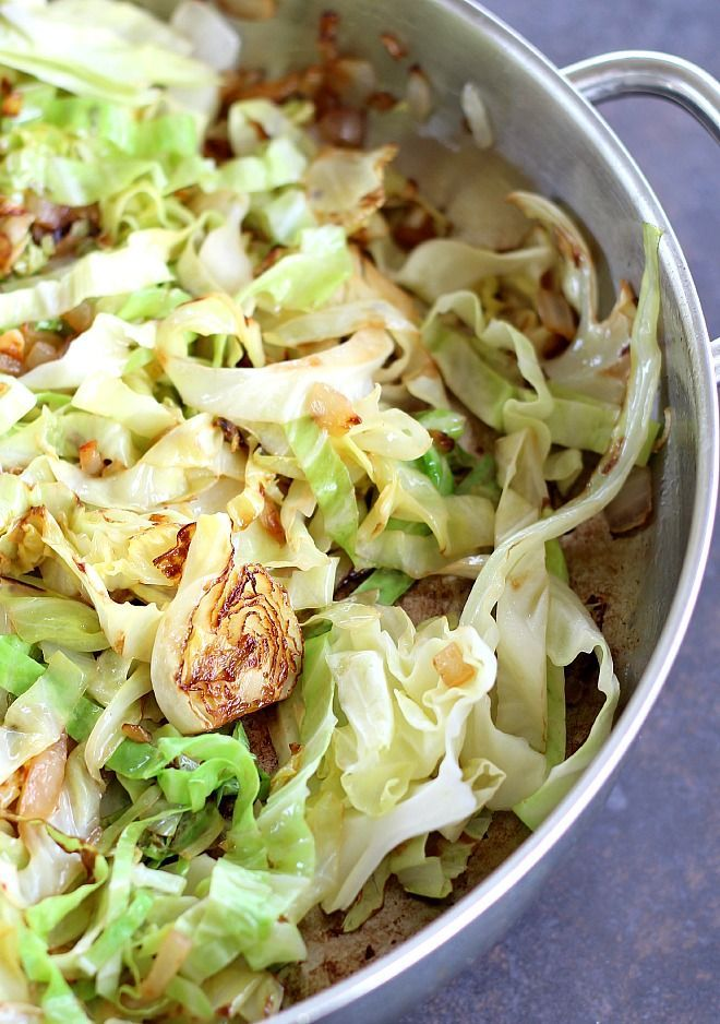 Sauteed cabbage is so flavorful. Cooking the cabbage this way results in crispy, tender caramelized cabbage just right for any meal.