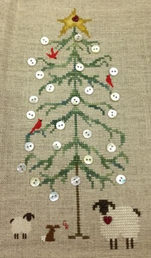 Gladys added buttons to her tree. Suwannee valley cross stitch. Pattern available. Sallyxstitch@mindspring.com by alissa
