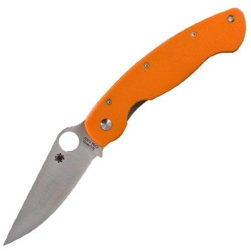 Spyderco Military Model G-10 Plain Edge Knife, Orange  http://www.handtoolskit.com/spyderco-military-model-g-10-plain-edge-knife-orange/