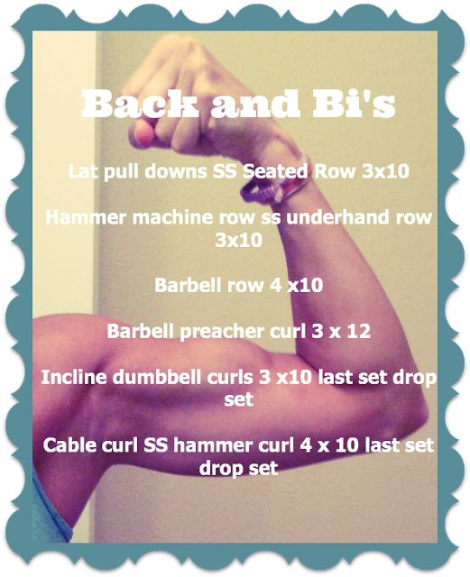 Little b's healthy habits:  Back and Biceps workout