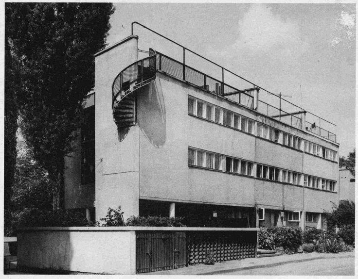 Lachert's House | 1928 | Bohdan Lachert, Jozef Szanajca | Warsaw, Saska Kepa, Katowicka Str. 9, 9a, 11