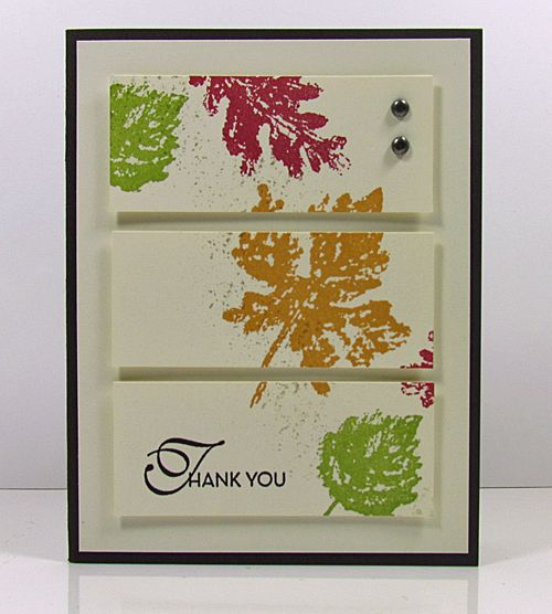 how to make greeting card with real leaves