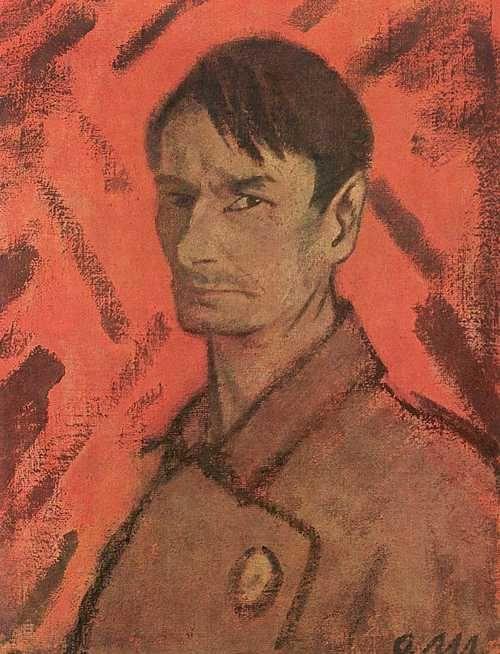 1921 SELFPORTRAIT Otto Müeller (Germany-Polish; Lubawka, Poland 1874~1930 Wrocław, Poland)