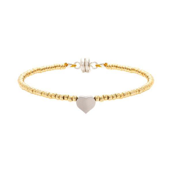 MINNIE GRACE Heart charm bracelet | La Luce