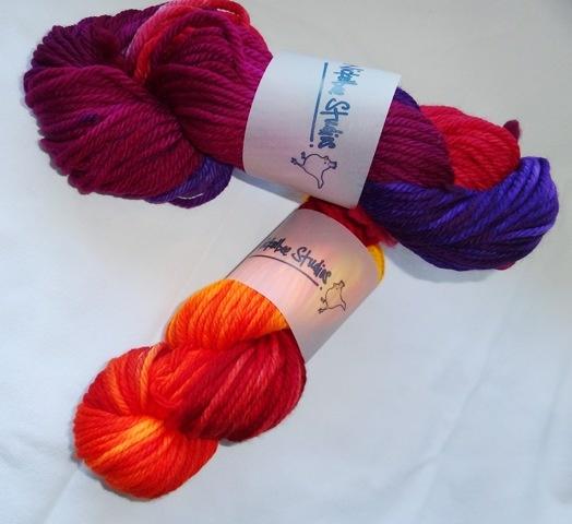 Hand Dyed Bulky Merino Yarn