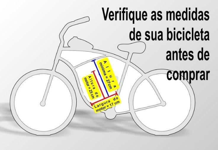 Kit Motor Bicicleta Motorizada 80cc com Farol - Casa da Mobilete