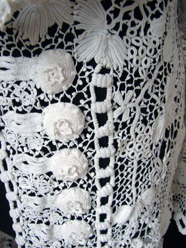 Circa 1900, Superb Irish Crochet Coat