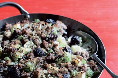 The Christmas turkey stuffing
