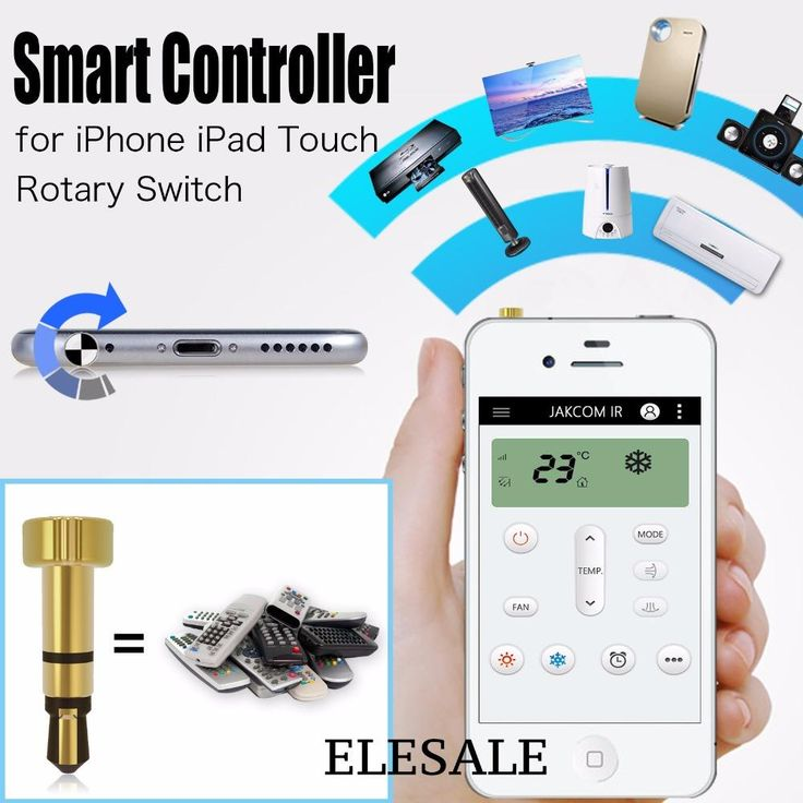 [Visit to Buy] Smart IR Remote Control Mini Pocket Controller With Bottom Light Use App For Iphone Ipad Touch Air Conditioner TV DVD Projector #Advertisement