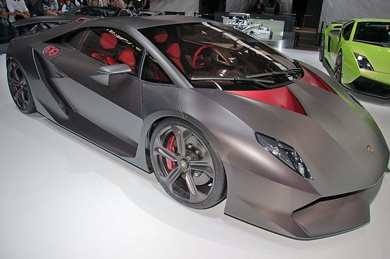 Lamborghini Sesto Elemento. The chassis, body, drive shaft and suspension components are made ofcarbon fiber, reducing the overall weight to a mere 999 kilograms (2,202lb), a weight comparable tosubcompactcars such as aHonda Fit.[1]It is the lightest car Lamborghini has ever produced.