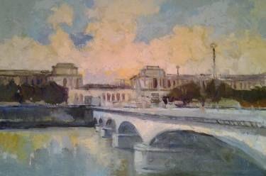 """Saatchi Art Artist Lubomir Tkacik; Painting, """"Paris - Pont d'léna"""" #art"""