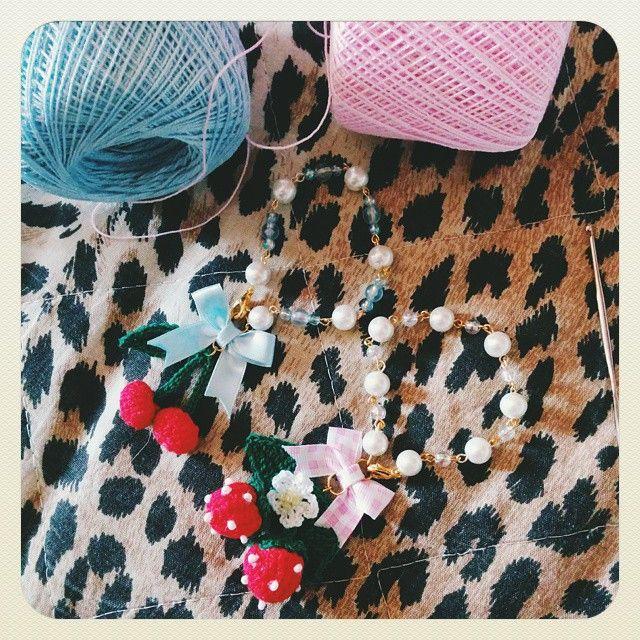 Sweet bracelet prototypes  ~ #instadiy #handmade #accessory #jewelry #bijoux #crochet #handmadeguerrilla #buyhandmade #BlueberrySoda #etsy #teamSugoiOrDie #vscocam