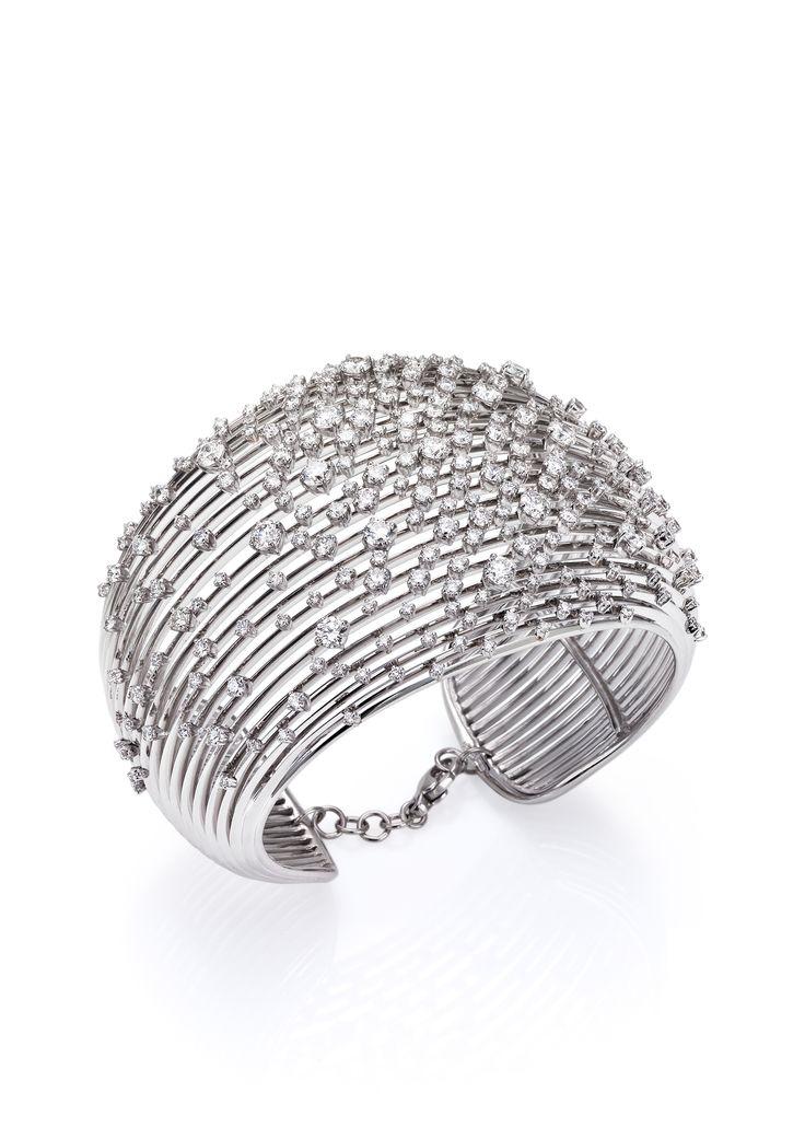 White gold and diamond bracelet from Stefan Hafner in Milan http://www.stefanhafner.com/