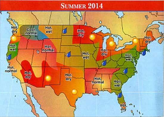 The Old Farmer's Almanac 2014 Weather Predictions