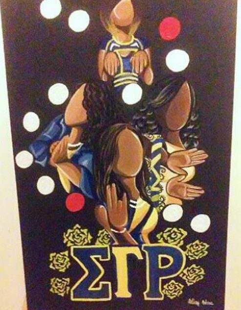 Sigma Gamma Rho art by Ashley Andrews