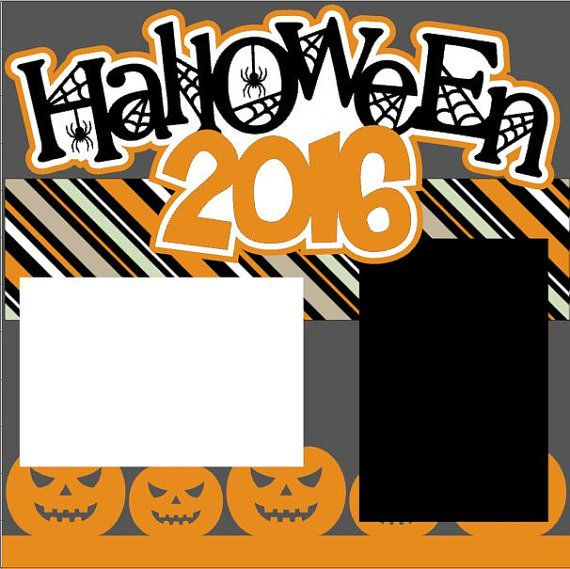 Halloween Scrapbook Page Kit or Premade Layout 2-page 12X12 - You Choose Year