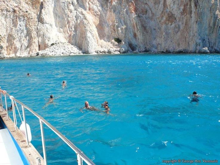 Swimming in Polyaigos island (at the northeast of Kimolos in the Aegean Sea) ~ Greece