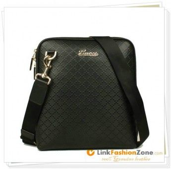 Gucci Messenger Handbag Diamante Leather 300333 Black www.soaho-bags.us/gucci-handbags.html