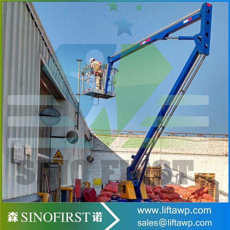 10-18m hydraulic sky arm lift/aerial working diesel engine towable telescopic boom lift workform