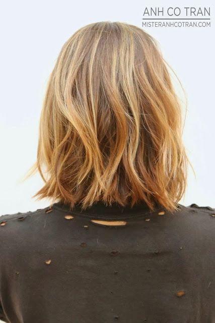 Ondas surferas en cabello corto